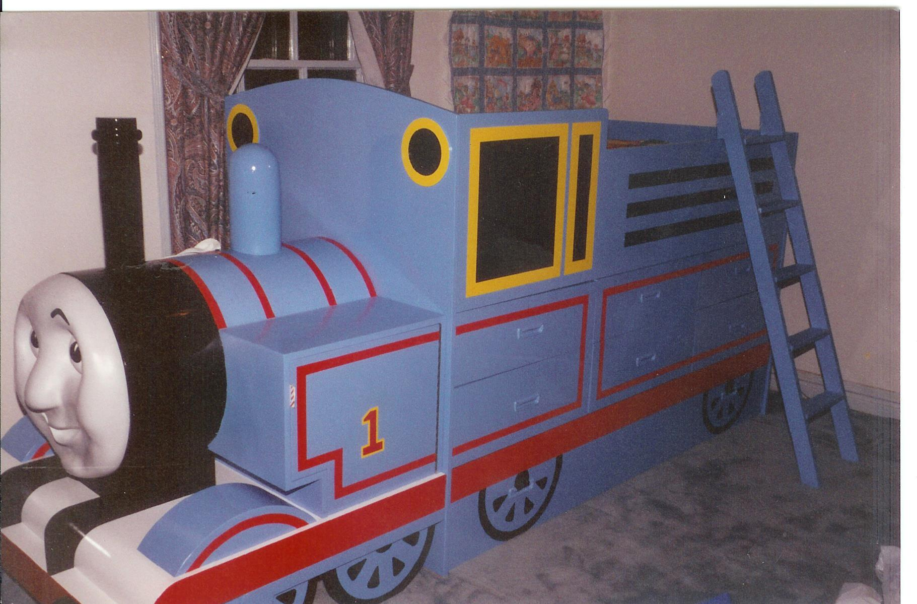 Thomas the Tank Engine Bed - Furst Woodworking